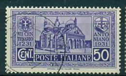 REGNO 1931 S.ANTONIO 50 C VIOLETTO ANNULLATO - 1900-44 Vittorio Emanuele III