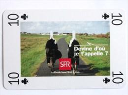 JEU DE 54 CARTES A JOUER SFR LE MONDE EST A VOUS DEVINE D OU JE T  APPELLE CIGOGNE AIGLE KANGOUROU BIGOUDENNE BRETAGNE - Playing Cards (classic)