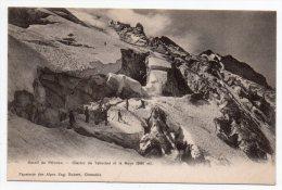 Cpa Pionnière 38 - Massif Du Pelvoux - Glacier Du Tabouchet Et La Meije - France