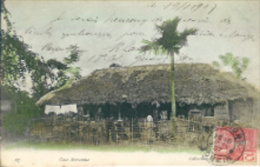 TONKIN:Case Anamite.1907.Timbre Indochine Française.Carte Envoyée à Gand. - Cartes Postales
