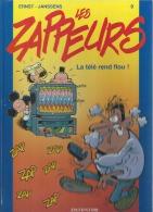 """LES ZAPPEURS  """" LA TELE REND FLOU ! """"  -  ERNST - E.O.  JUIN 2001  DUPUIS - Zappeurs, Les"""