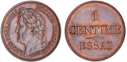 FRANCIA / FRANCE LUIS FILIPE 1º/LOUIS PHILIPPE 1er   1 CENTIMO/CENTIME  ESSAI/PRUEBA  BRONCE EBC/XF     DL-10.385 - A. 1 Centime