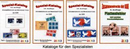 DDR Zusammendruck, Markenhefte+ Abarten Katalog 1-4 RICHTER 2013 Neu 100€ Se-tenant Booklet Special Catalogue Of Germany - German