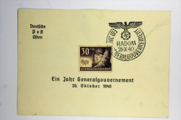 Generalgouvernement: Propagandapostkarte,ein Jahr Generalgouvernement