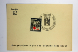 Generalgouvernement: Propaganda Postkarte Kriegshilfswerk, Rot Rotes Kreuz Red Cross / Krakau