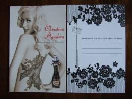 Christina Aguilera Parfum Carte Postale Edition Shelly Israel - Perfume Cards