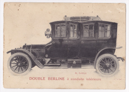 "Carton Photo 100x140 - Double Berline à Conduite Intérieure ""Léon Bollée G1 (1911) Circulé 1921 - Automobili"