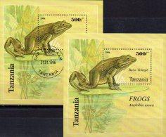 WWF Frösche Rana Goliaph 1995 Tanzania Block 312 **  Plus O 7€ Naturschutz Bf M/s Fauna Bloc Frogs Sheet Bf Tanzanie - Tanzania (1964-...)