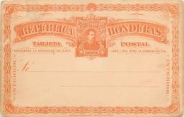 CPA - Entier Postal Illustré Décoré  - Dos Vierge (voir 2 Scans) - Honduras