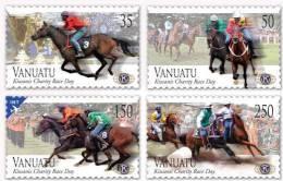 VANUATU - 2012 - Hippisme, Chevaux, Course Des Kiwanis // 4v Neuf // Mnh - Vanuatu (1980-...)