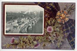U K--Ecosse--GLASGOW Bridge (très Animée,bus à étages,attelages + Symbole Ecosse Chardon) N°7824 Oilette - Lanarkshire / Glasgow