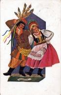 "1935 MALARSTWO POLSKIE, TANCE NARODOWE, Z.STEYJENSKA KRAKOWINK - LA ""CRACOVIENNE"", KÜNSTLER KARTE GELAUFEN 1935 - Polen"