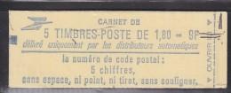 = Type Liberté De Delacroix 1.80fr Rouge Carnet  X 5  N° 2220-C1 - Usage Courant