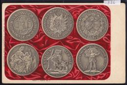 5 Fr. Der Eidgenossisches Schützenfest In Schaffhausen 1865, Schwyz 1867, Zug 1869 (-886) - Monnaies (représentations)