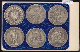 5 Fr. Der Eidgenossisches Schützenfest Basel 1879 Tir Fédéral Fribourg 1881, Tiro Federale Lugano 1883 (-889) - Monnaies (représentations)