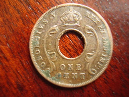 BRITISH EAST AFRICA USED ONE CENT COIN BRONZE Of 1924 H. - Africa Orientale E Protettorato D'Uganda