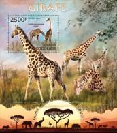 tg13220b Togo 2013 Fauna Giraffe s/s Lion Elephant Giraffes Rhinoceros Flamingo Bird Deer
