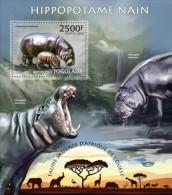 tg13221b Togo 2013 Fauna Hippo Hippopotamus/s Lion Elephant Giraffes Rhinoceros Flamingo Bird Deer