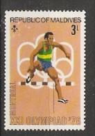 Maldives  1976  Olympic Games, Montreal  3L  (**) MNH - Maldiven (1965-...)