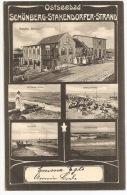 Schleswig-Holstein - SCHÖNBERG - Stakendorfer Strand / Fischer, Pension Seelust ++++ To Paris, France, 1906 ++++++ - Schoenberg