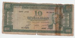 "TURKEY 10 LIRA 1930 ""G"" P 156 - Turchia"