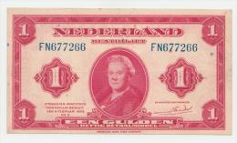 Netherlands 1 Gulden 1943 VF+ P 64 - [2] 1815-… : Kingdom Of The Netherlands