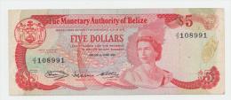 BELIZE 5 DOLLARS 1980 VF+ P 39 - Belize