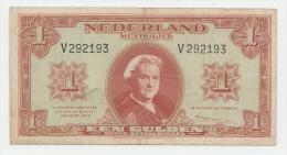 Netherlands 1 Gulden 1945 VF+ P 70 - [2] 1815-… : Koninkrijk Der Verenigde Nederlanden