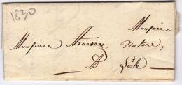 LAC De Apt (84) Pour L´Isle-sur-la-Sorgue (84) - 23 Octobre 183? - Sans Marque Postale - Marcophilie (Lettres)