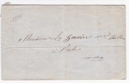 LAC De Carpentras (84) Pour L´Isle-sur-la-Sorgue (84) - 20 Novembre 1855 - Sans Marque Postale - Marcophilie (Lettres)