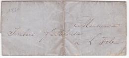 LAC De Avignon (84) Pour L´Isle-sur-la-Sorgue (84) - 29 Décembre 1860 - Sans Marque Postale - Marcophilie (Lettres)