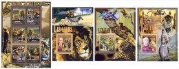 GUINEA 2008 - Wild Cats, M/S + 3 S/S - Mi 5589-94 + B1533-5, YT 3447-52 + BF851-3 - Roofkatten