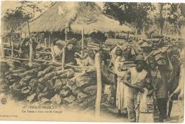 CONGO FRANCAIS.  Un Poste à Bois Sur Le Congo. - Congo - Brazzaville