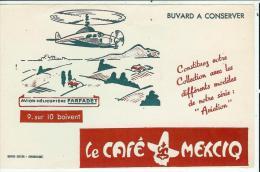 Buvard Publicitaire Le Café Mexciq-série Aviation Hélicoptére Farfadet - Café & Thé