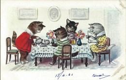 Fantaisie Humour - Chats - Famille - Prends Le Thé - Chats