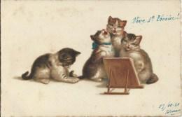 Fantaisie Humour - Chats - Chanteurs - Chats
