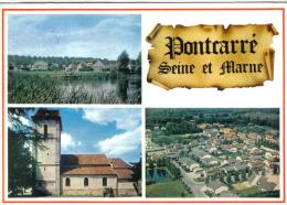 Carte Postale 77. Pontcarre  Vue D´avion Trés Beau Plan - Francia