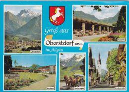 Cp , ALLEMAGNE , OBERSTDORF , Multi-Vues , Blason - Oberstdorf