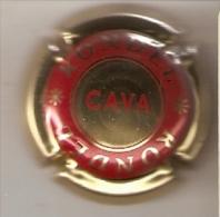 PLACA DE CAVA RONDEL  (CAPSULE) COLOR ROJO Y DORADO - Placas De Cava