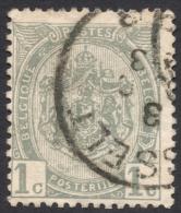 Belgium,  1 C. 1907, Sc # 82, Mi # 78, Used (2) - 1893-1907 Coat Of Arms