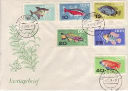 D FDC 1221-26  Zierfische - FDC: Covers