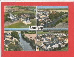 14 LOUVIGNY Cpsm Vue Aérienne Multivues       100 Lapie - Frankreich
