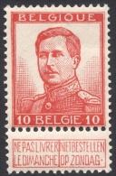 Belgium,  10 C. 1912, Sc # 103a, Mi # 100II, MH - 1912 Pellens
