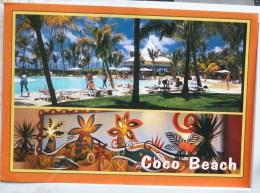 Ile Maurice Multi Vues Souvenir Coco Beach Hotel Animé Piscine Voyagé Cachet  Timbre 2x Protection Environnement - Maurice