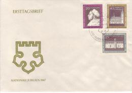 D FDC 1317-19  450. Jahrestag Des Thesenanschlags Durch Martin Luther - FDC: Sobres
