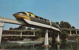 Railway Postcard Disneyland Monorail Anaheim California USA Submarine - Disneyland