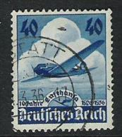 0422-ALEMANIA REICH AEREO 1936 Nº54.AVIACION GERMANY - Airmail