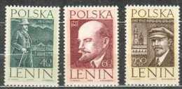 Neuf ** 1169-1171 SEJOUR DE LENINE EN POLOGNE, Maison De Bialy Dunajec - 1944-.... Republic