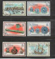 ST. HELENA, 1978, Stamps CTO, White Lion Nrs. 307-312 - Sint-Helena