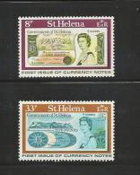 ST. HELENA, 1976, Stamps Mint Hinged, Own Banknotes Nrs. 280-281 - Sint-Helena